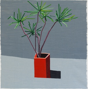 Ahad Haam Plant  2013 oil on linen  100 x 100 cm