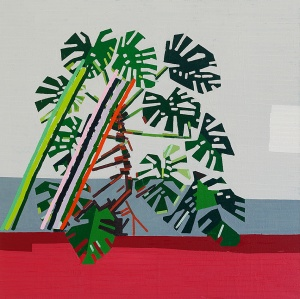 Growth (Plant Without a Pot)  2013 oil on linen  100 x 100 cm