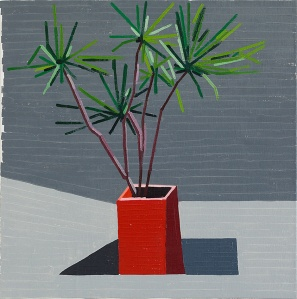 Ahad Haam Plant III  2013 oil on linen  60 x 60 cm