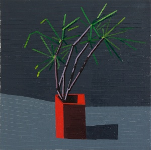 Ahad Haam at Night  2013 oil on linen  60 x 60 cm