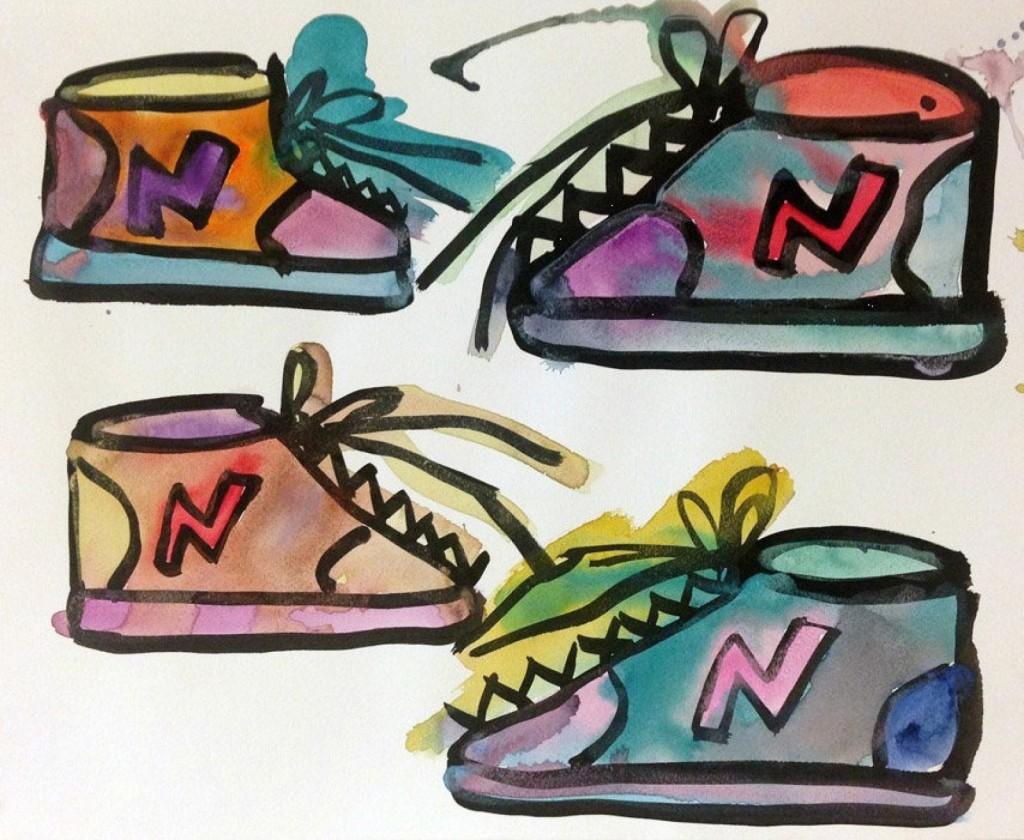 """""""Sneakers"""" Katherine Bernhardt (2015) @sohorevue"""