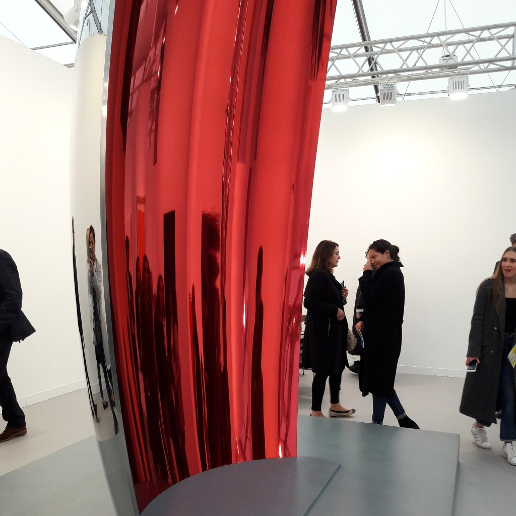 Anish Kapoor at Lisson Gallery's booth.