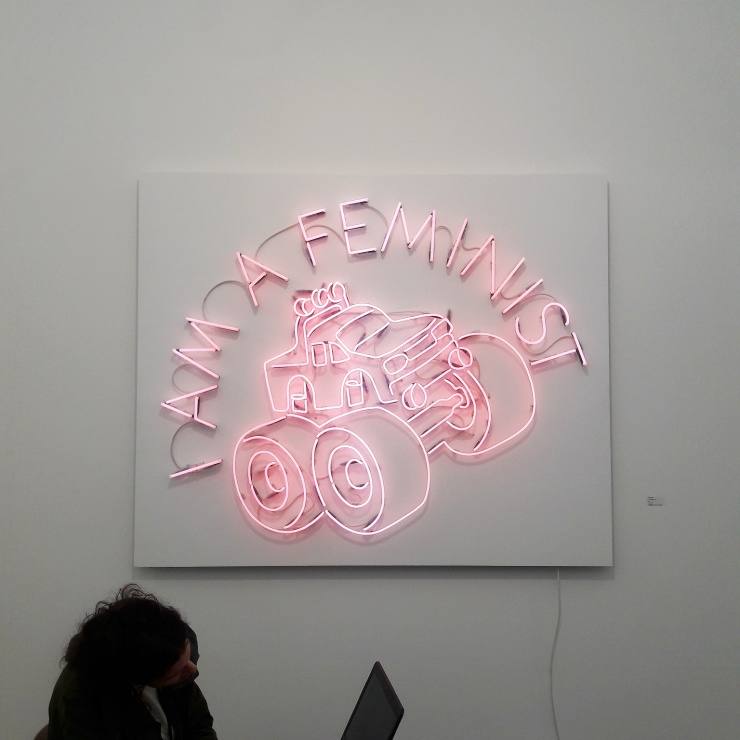 Yael Bartana at Sommer Gallery's booth.