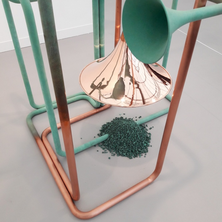 Alicja Kwade at 303 Gallery'sbooth.